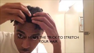 getlinkyoutube.com-Male Stretched Twistout for 4C Hair & How To Maintain It Tutorial