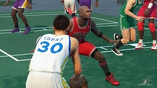 getlinkyoutube.com-NBA 2K16 - Magic, Jordan, Larry,Olajuwon, Shaquille vs Curry, Harden, LeBron, Davis, Howard