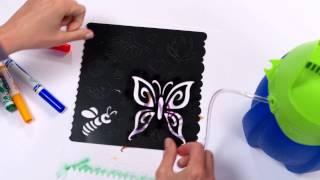 getlinkyoutube.com-Crayola Marker Airbrush Demo