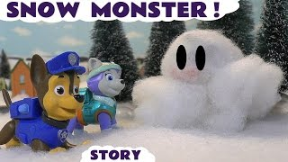 getlinkyoutube.com-Paw Patrol Stop Motion Play Doh Snow Monster Episode with Thomas and Friends - Fun Toy Story TT4U