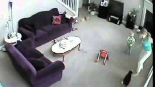getlinkyoutube.com-اكثر من رائع قط يهاجم جليسة اطفال حينما شعر بالخطر على الطفل الصغير