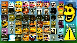getlinkyoutube.com-Super FNaF WORLD All 54 Characters Unlocked (All Animatronics)