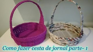 getlinkyoutube.com-Como fazer cesta de jornal parte- 1