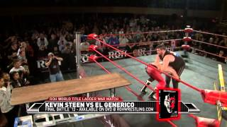 getlinkyoutube.com-KEVIN STEEN VS EL GENERICO LADDER WAR (FINAL ROH MATCH)