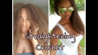 getlinkyoutube.com-How to straighten marley hair crochet braids