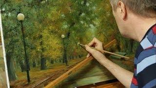getlinkyoutube.com-Работа над картиной Осень в парке. Process of creating oil painting from Oleg Buiko.