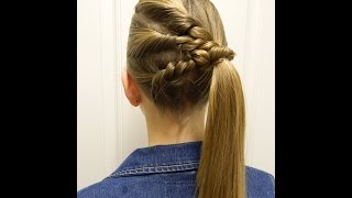getlinkyoutube.com-Triple Twist as a Side  /  Up to 2 min. hairstyle / Bonita Hair Do