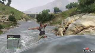 getlinkyoutube.com-GTA 5 Swim in the River HD Grand Theft Auto 5