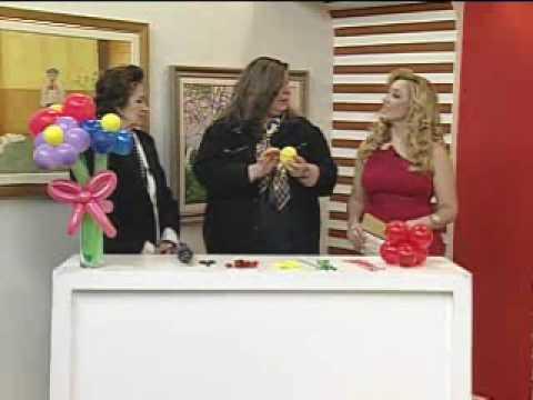 Artesanato - Buque flores bexiga - Melhor com Você - 12/06