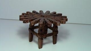 getlinkyoutube.com-tutorial mesa con pinzas de madera / tutorial table with wooden pegs