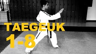 getlinkyoutube.com-TAEGEUK 1 - 8 POOMSAE WTF FORMS PATTERNS JANG KUKKIWON by LIMA TAEKWONDO