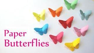 getlinkyoutube.com-DIY crafts: Paper BUTTERFLIES (very EASY) - Innova Crafts