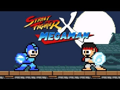 Thumbnail image for 'Street Fighter plus Megaman equals video game happiness'