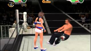 getlinkyoutube.com-Wrestling Game Ryona Mixed Wrestling リョナ 5