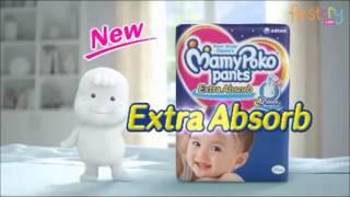 getlinkyoutube.com-Mamy Poko Extra Absorb Pant Style Diaper