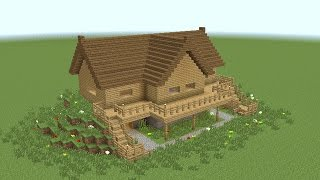 getlinkyoutube.com-MINECRAFT: How to build wooden mansion