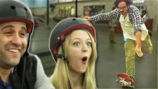 getlinkyoutube.com-Non-Skaters Vs. Pro Skaters
