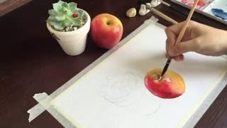 Tutorial - Watercolor Apple - Wet On Wet
