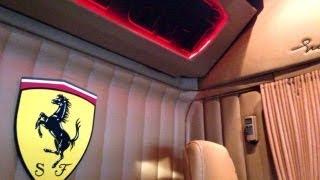getlinkyoutube.com-Scania T500 V8 STH France Ferrari interior (HD)