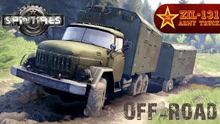 getlinkyoutube.com-SPIN TIRES mod army truck ZIL 131 Off-road