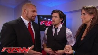 getlinkyoutube.com-New Raw General Manager Brad Maddox encounters Stephanie McMahon and Triple H: Raw, July 15, 2013