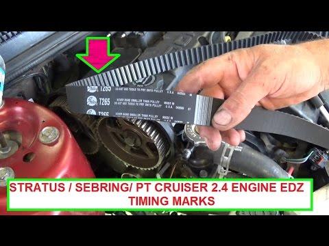 Dodge Stratus/Chrysler Sebring/Chrysler PT Cruiser Timing Marks. Timing belt marks