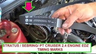 getlinkyoutube.com-Dodge Stratus / Chrysler Sebring / Chrysler PT Cruiser Timing Marks . Timing belt marks