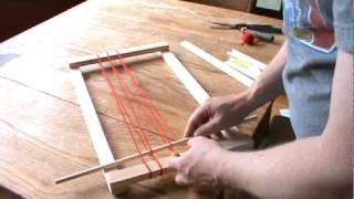 getlinkyoutube.com-How to weave with a simple frame loom