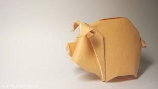 Tutorial - Origami Pig/Piggy - Lợn con (Hoàng Tiến Quyết)