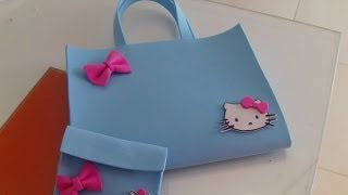 getlinkyoutube.com-Nuevo bolso de la Hello Kitty de goma eva