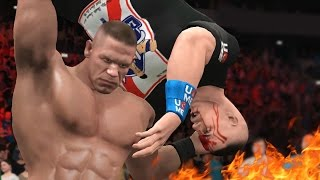 getlinkyoutube.com-WWE 2K17 - 5 Times Heel John Cena Went Too Far
