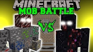 getlinkyoutube.com-ORE BOSS VS MUTANT OBSIDIAN GOLEM - Minecraft Mob Battles - Fake Ores Mods