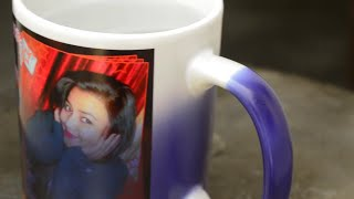 Sublimation Blue Magic Mug Printing