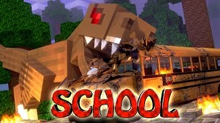 getlinkyoutube.com-Minecraft School | Military School of Mods - T-REX EATS STUDENTS (Dinosaurs)