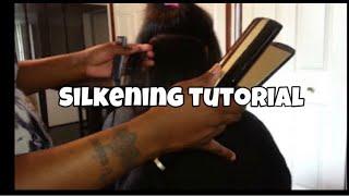 getlinkyoutube.com-Hair Silkening Tutorial pressing & flat ironing