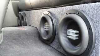 "getlinkyoutube.com-How to Build a box for 4 8"" Subwoofers in a Silverado"