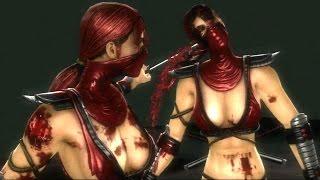 Mortal Kombat 9 - Skarlet & Mileena Tag Ladder Gameplay Playthrough