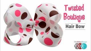 getlinkyoutube.com-How to Make a Twisted Boutique Hair Bow - TheRibbonRetreat.com