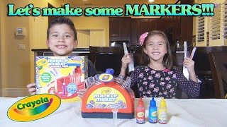 getlinkyoutube.com-Crayola MARKER MAKER!!! Family Toy Review & Demonstration