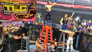getlinkyoutube.com-GTS WRESTLING: TLC UFC OCTAGON MATCH! WWE FIGURE PPV Animation Event!