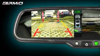 getlinkyoutube.com-Germid High Resolution Rearview Mirror With Parking Sensor And Backup Camera