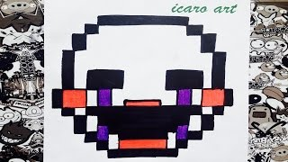 Como dibujar a puppet minecraft | how to draw puppet | five nights at freddy's