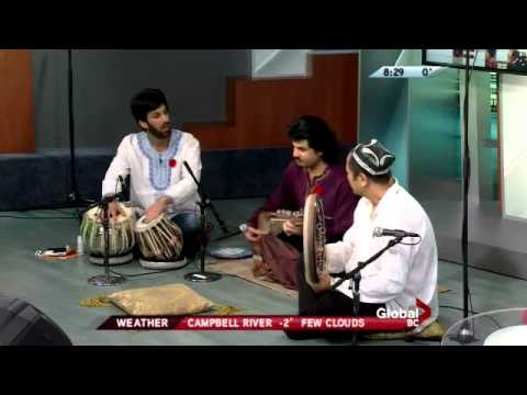 Homayun Sakhi Trio, Nader Salar & Abbs Qsimov on Global Morning News