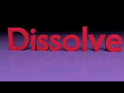 Blender: dissolve animation