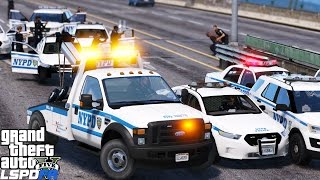 GTA 5 LSPDFR Police Mod 381 | NYPD Ford F-550 Tow Truck Wrecker | Recovering A Stolen Police Car