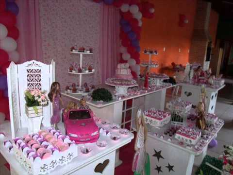 festa da barbie mesa clean