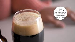 A video on types of beer glasses.