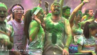The Color Run brightens Seattle Center