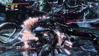 getlinkyoutube.com-【Bloodborne】聖杯ダンジョン:エーブリエタース戦と大砲で3192ダメージ!