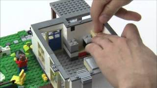 getlinkyoutube.com-Hillside House with furniture - LEGO Creator - Designer Tips